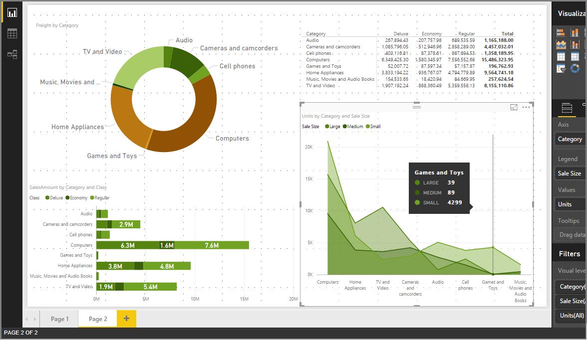 Usar Temas de relatório no Power BI Desktop