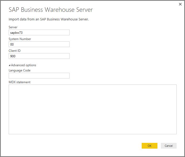 b88258aad2 Usar o Conector SAP BW no Power BI Desktop - Power BI