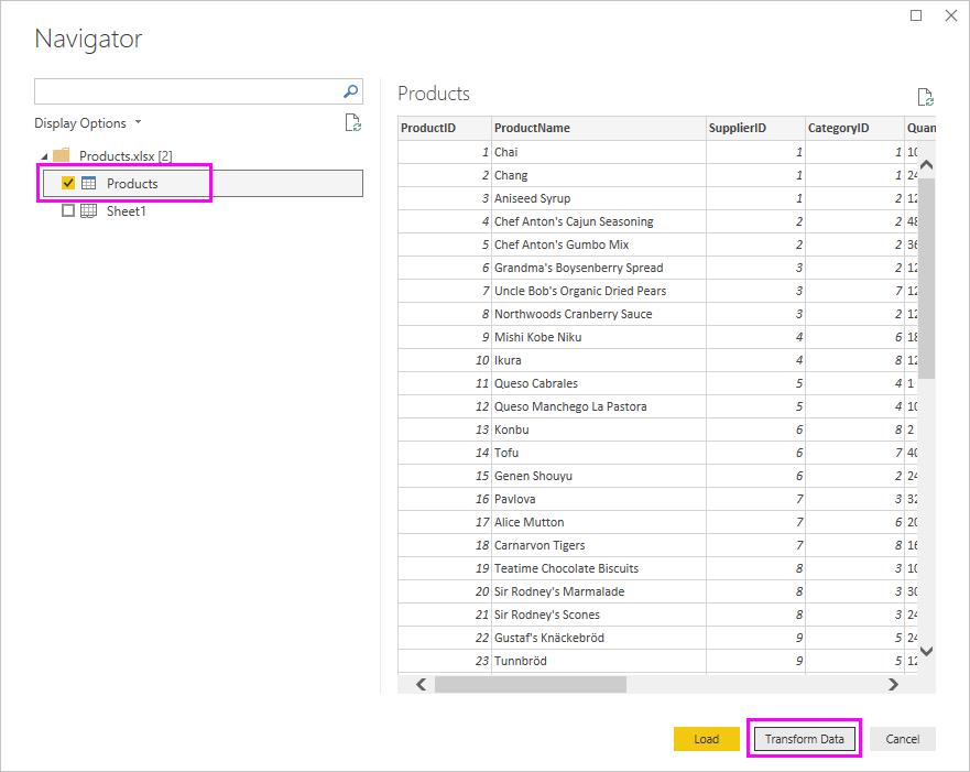 Painel Navegador do Excel
