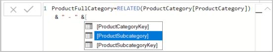 Escolha ProductSubcategory