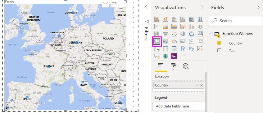 Visualização de mapa