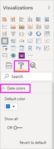 Formatar cores de dados