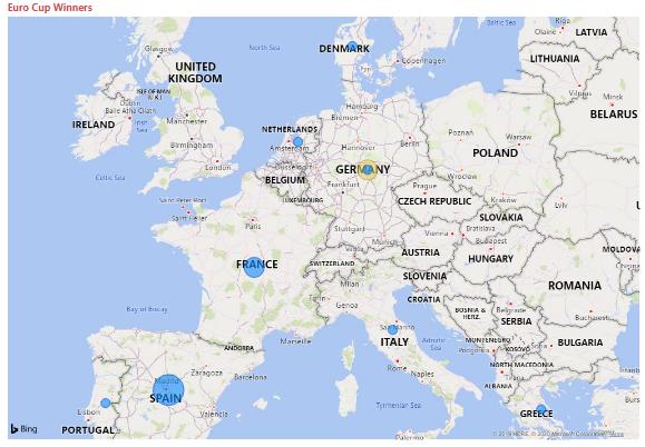 Visualização de mapa formatada