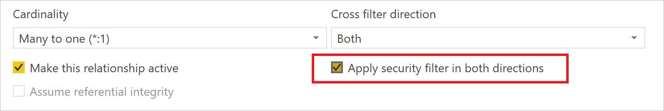 Aplicar filtro de segurança