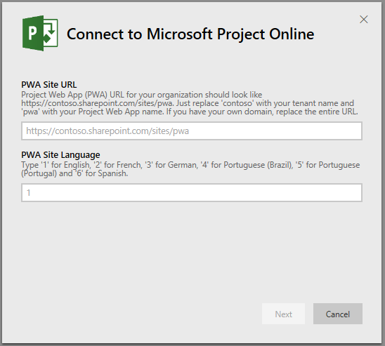 Conectar-se ao Microsoft Project Online