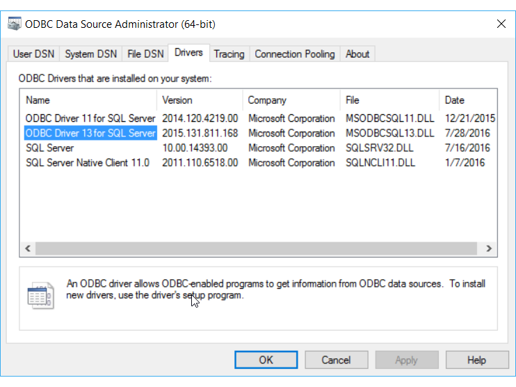 SYBASE IQ 64 BIT ODBC DRIVERS FOR WINDOWS 10