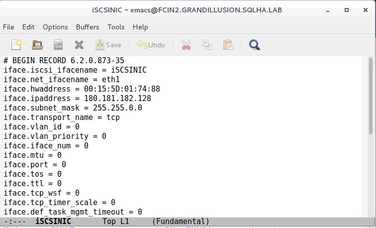 Configurar o armazenamento iSCSI da instância de cluster de