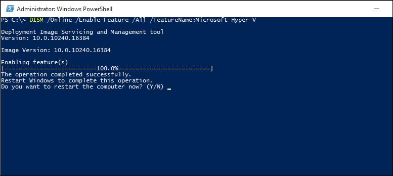 Habilitar o Hyper-V no Windows 10   Microsoft Docs