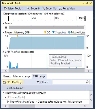 Medir o uso de memória em seus aplicativos - Visual Studio