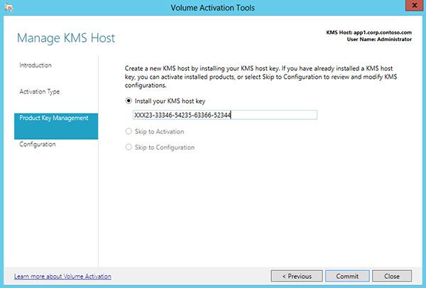 Ativar usando o servio de gerenciamento de chaves windows 10 instalar a chave de host kms ccuart Images