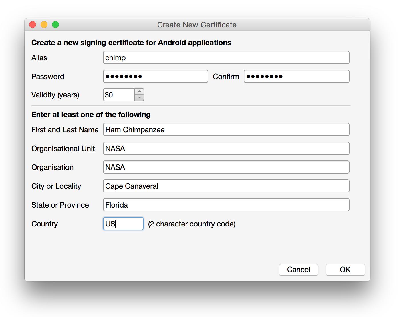 Assinatura do Pacote de Aplicativos Android - Xamarin