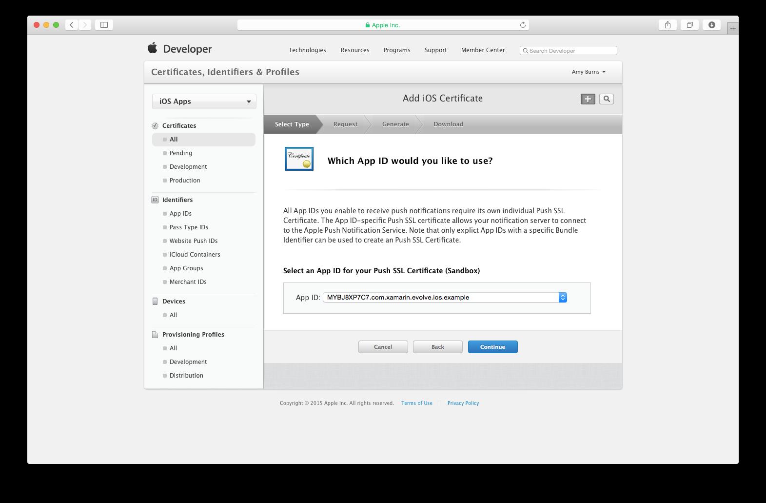 Notificações por push no iOS - Xamarin | Microsoft Docs
