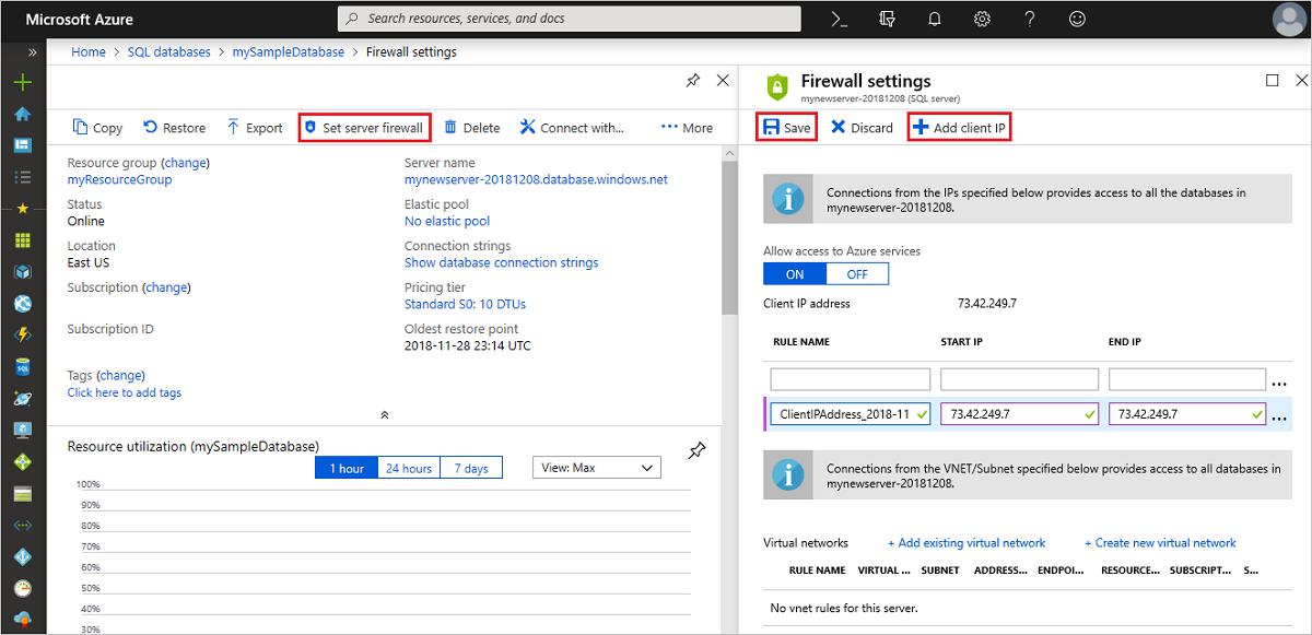 Portal do azure criar uma nica base de dados sql - Porta sql server ...