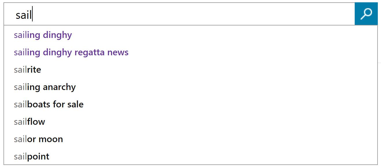 Define Custom Autosuggest suggestions - Bing Custom Search