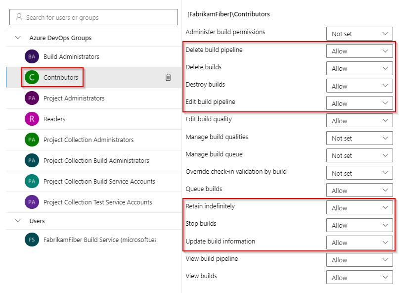 Azure Devops Groups/Permissions