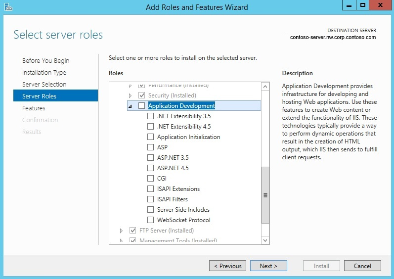 Classic ASP Not Installed by Default on IIS 7 0 and above