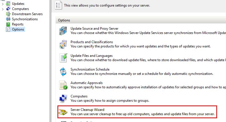 Руководство по техническому обслуживанию WSUS для диспетчера конфигураций -  Configuration Manager   Microsoft Docs