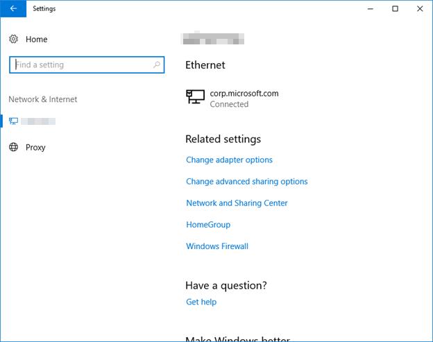 Настройка приложения, ограниченного только прокси-серверами и Ethernet