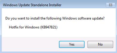 Windows Обновление диалогового окна автономных установщиков