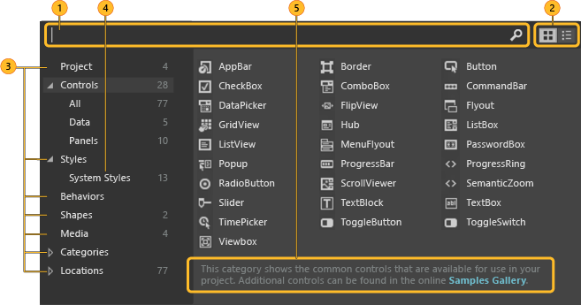 Обзор функций Blend для Visual Studio | Microsoft Docs