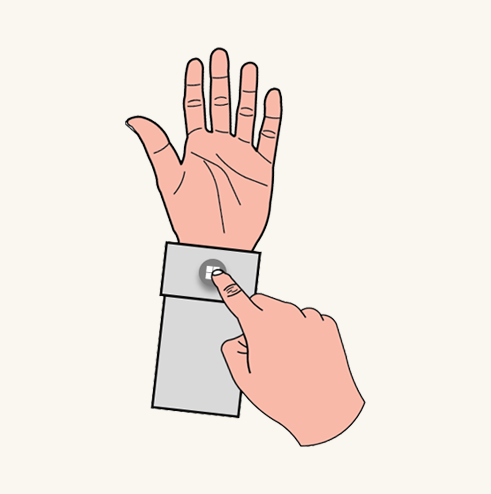 Wrist button press
