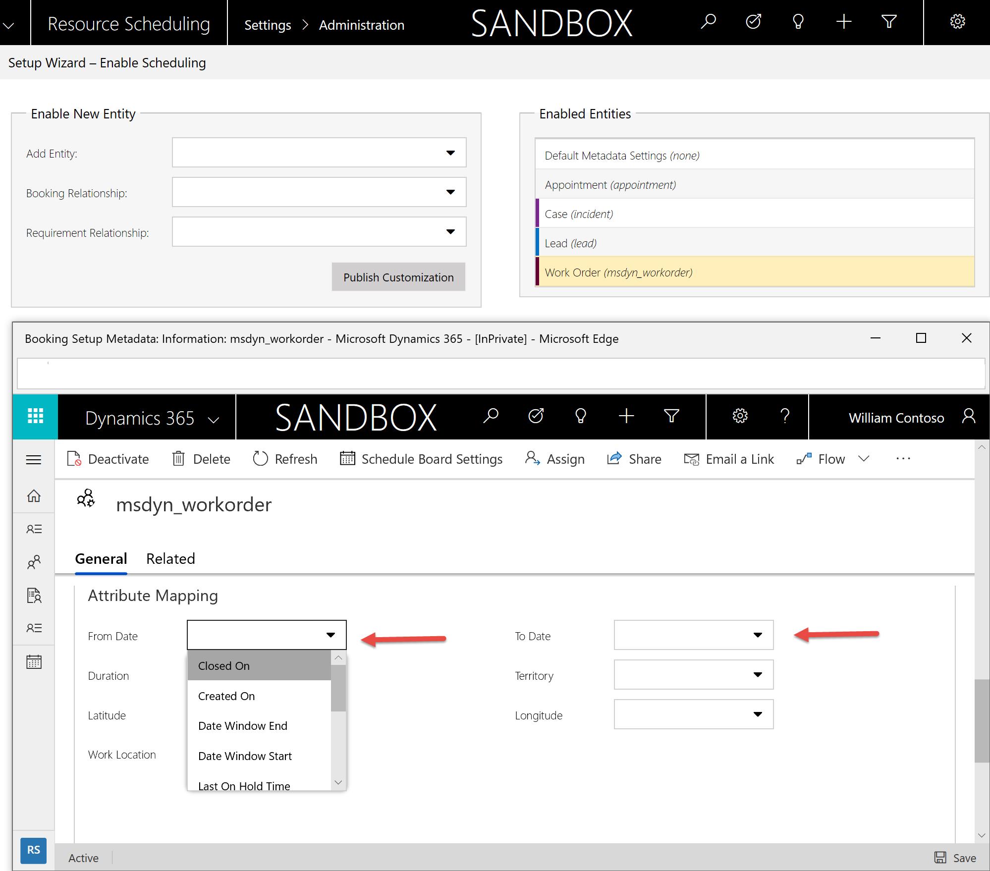 Scenár pre dátumové údaje profil príklady