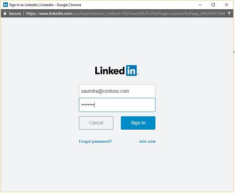 med hjälp av LinkedIn för att ansluta