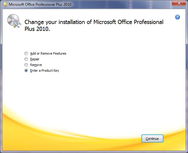 microsoft office professional plus 2010 activate product key