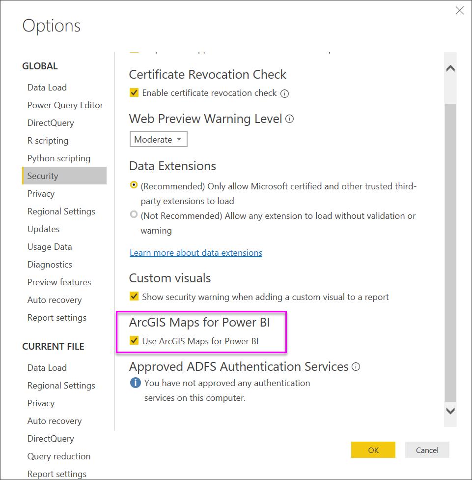 สร้างแผนที่ ArcGIS จาก ESRI ใน Power BI - Power BI | Microsoft Docs