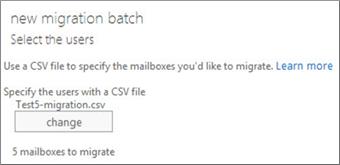 CSV dosyasıyla yeni geçiş toplu işlemi