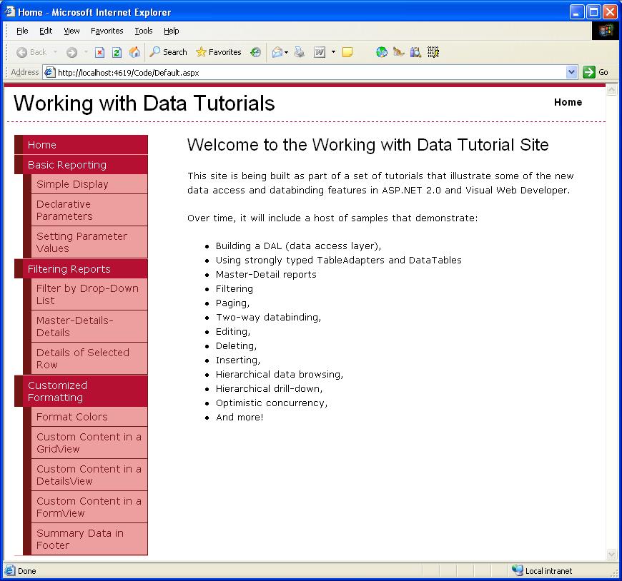 Ana Sayfalar Ve Site Gezintisi C Microsoft Docs