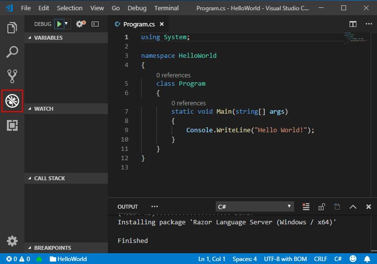 C# Visual Studio Code