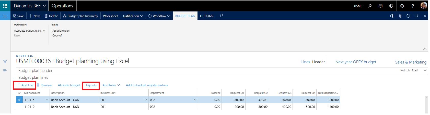 Excel Için Bütçe Planlama şablonları Finance Operations