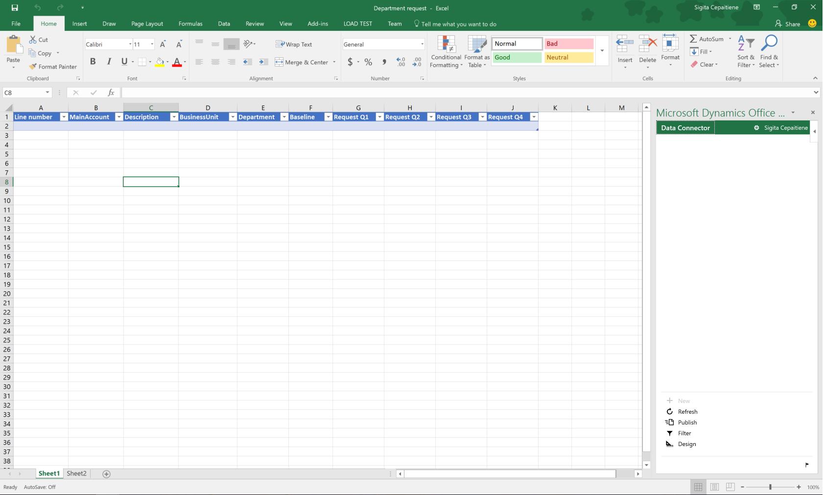 Excel 39 de b t e planlama ablonlar finance operations for Cost to build report