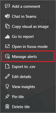 Diğer Seçenekler menüsünde uyarıları yönetme ekran görüntüsü.