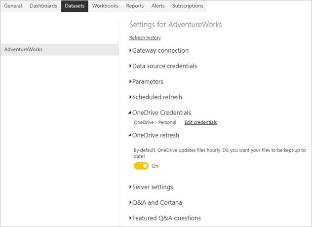 OneDrive Kimlik Bilgileri ve OneDrive yenilemesi
