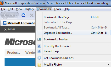 how to transfer bookmarks from internet explorer to mozilla firefox