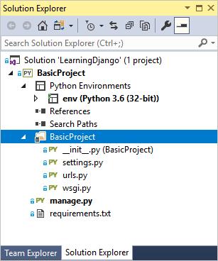 step01-django-project-in-solution-explor...ew=vs-2017
