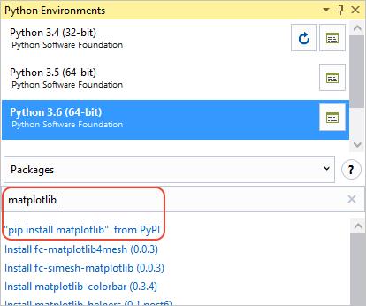 environments-add-matplotlib1.png?view=vs-2017