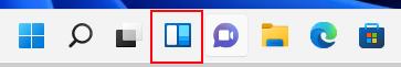 Windows 11 görev çubuğunda, açmak ve kullanılabilir widget'ları görmek için widget simgesini seçin.