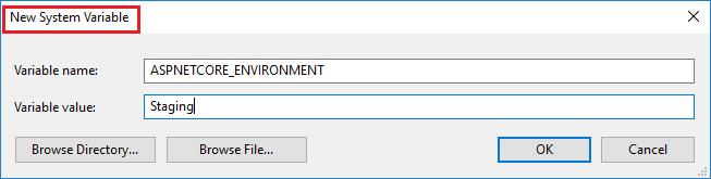 ASPNET Core 环境变量