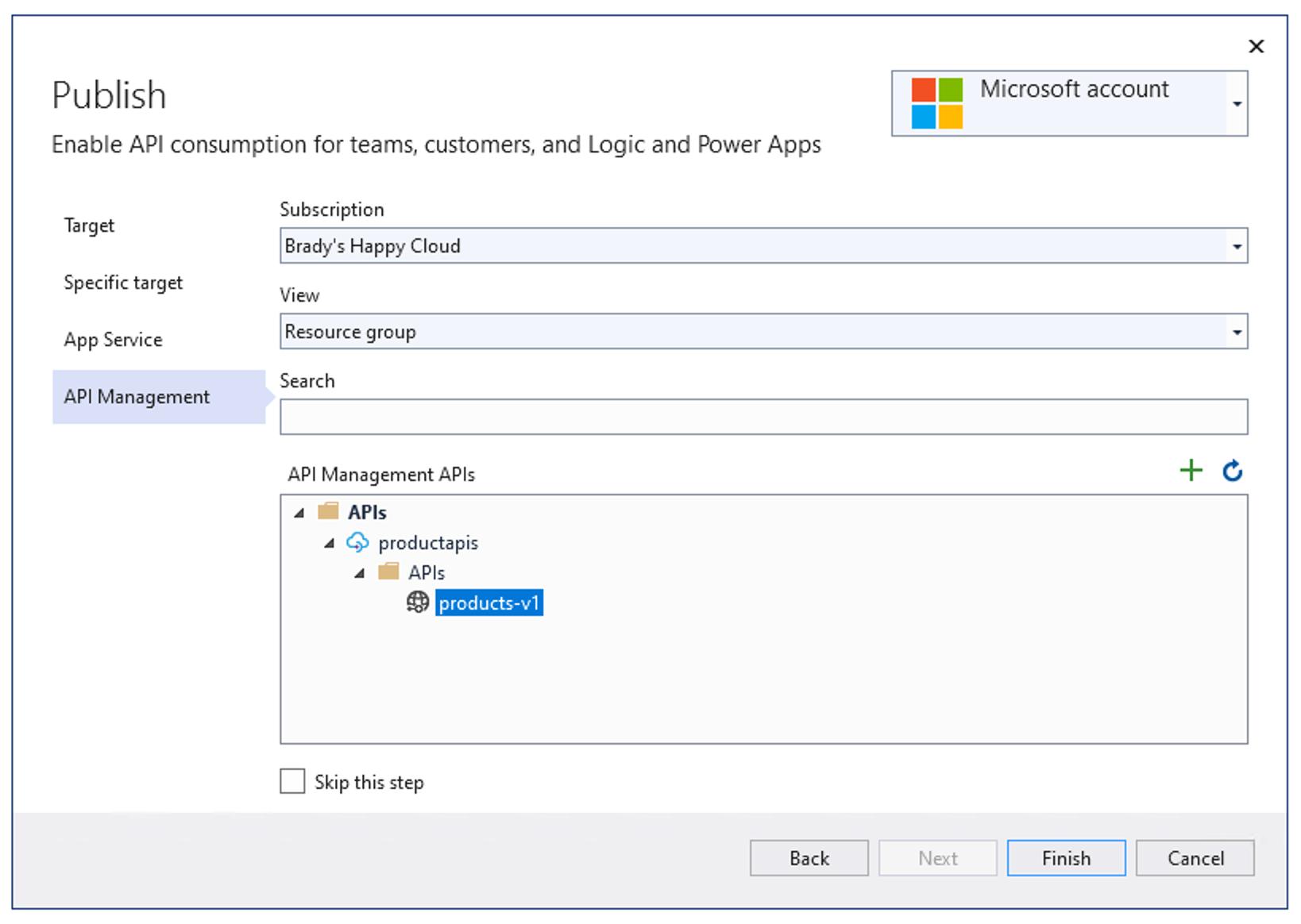 Azure API 管理导入与发布