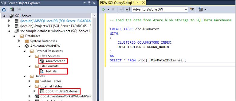 将数据从 SQL Server 载入 Azure SQL 数据仓库 (PolyBase) | Microsoft Docs