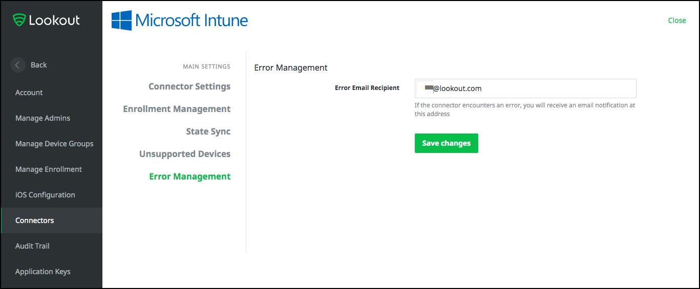 设置Lookout 与Microsoft Intune 的集成- Microsoft Intune