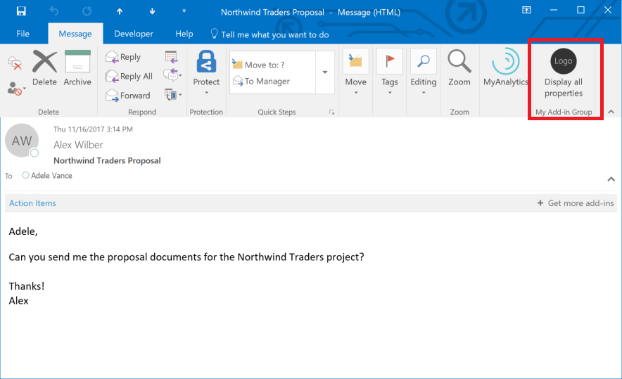 how to add from in outlook