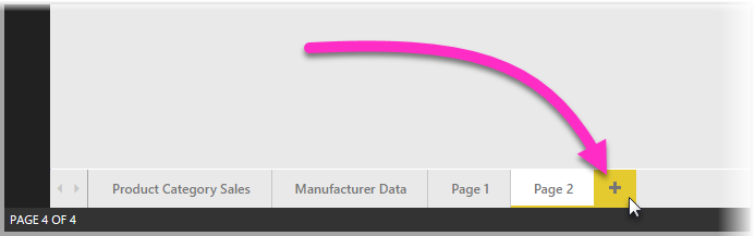 新建工具提示的报表页