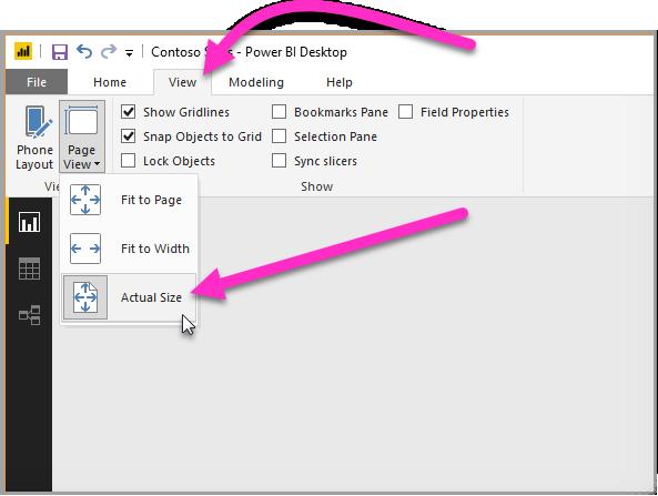 对于之前创建的工具提示,按实际大小显示报表页面
