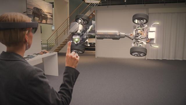 HoloLens 的 Volvo 汽车体验