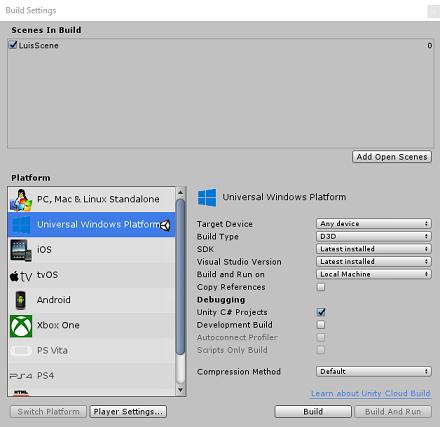 isofmediumbuild_build settings window