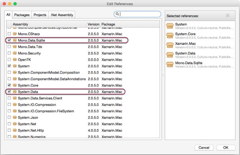 Xamarin 中的数据库- Xamarin | Microsoft Docs